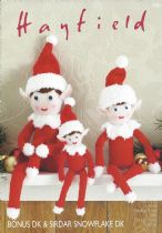 Hayfield Bonus DK & Snowflake DK - 2475 Christmas Elves Toy Knitting Pattern